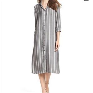 Knot Sister Bridgerland Midi Shirt Dress - Grey